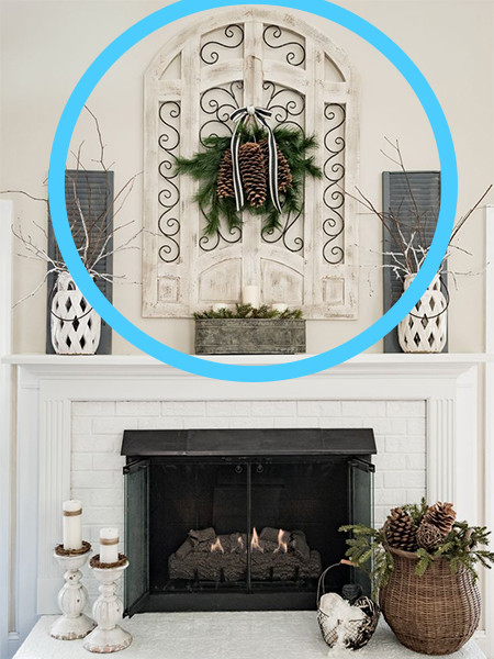 Coulters Living How to Decorate a Christmas Mantel Center Piece