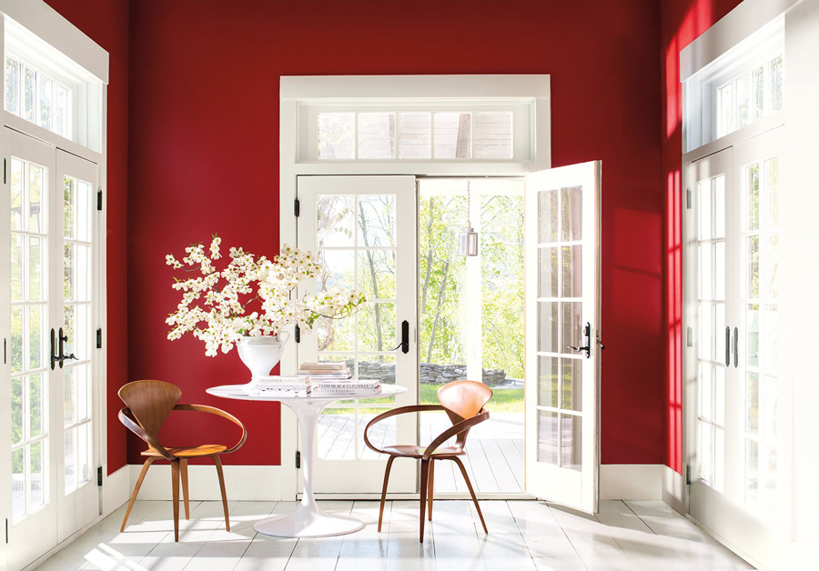 Color Trends 2018 Caliente Red Benjamin Moore