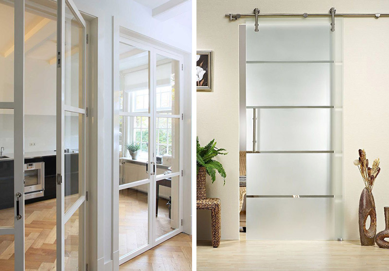 Modern French Doors Interior