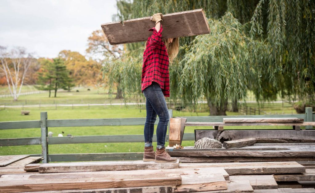 Woman-gathering-wood