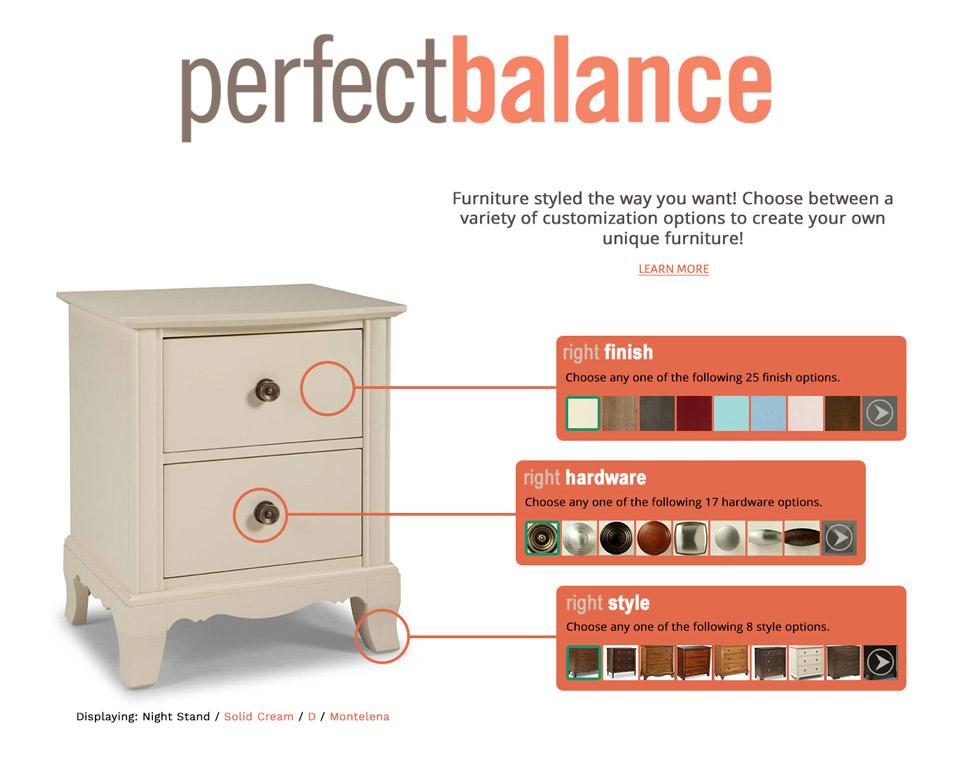 Durham Furniture Perfect Balance Collection