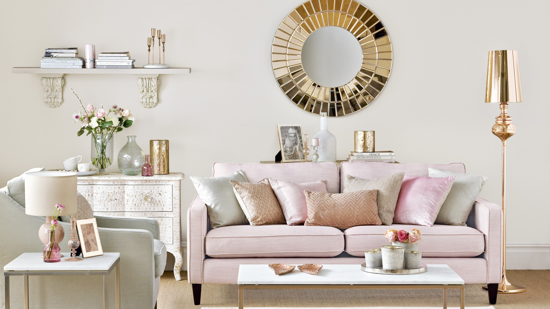 pink and gold living room 2018 trends something borrowed and plenty that is new 19952