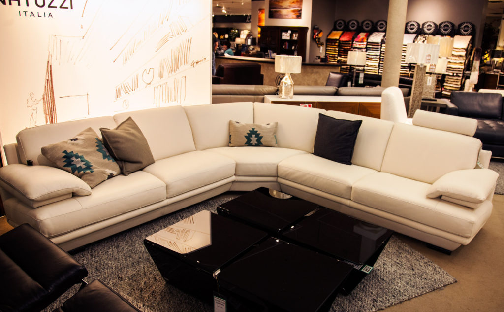 Coulters Staff Holiday Picks Natuzzi Couch Sectional White