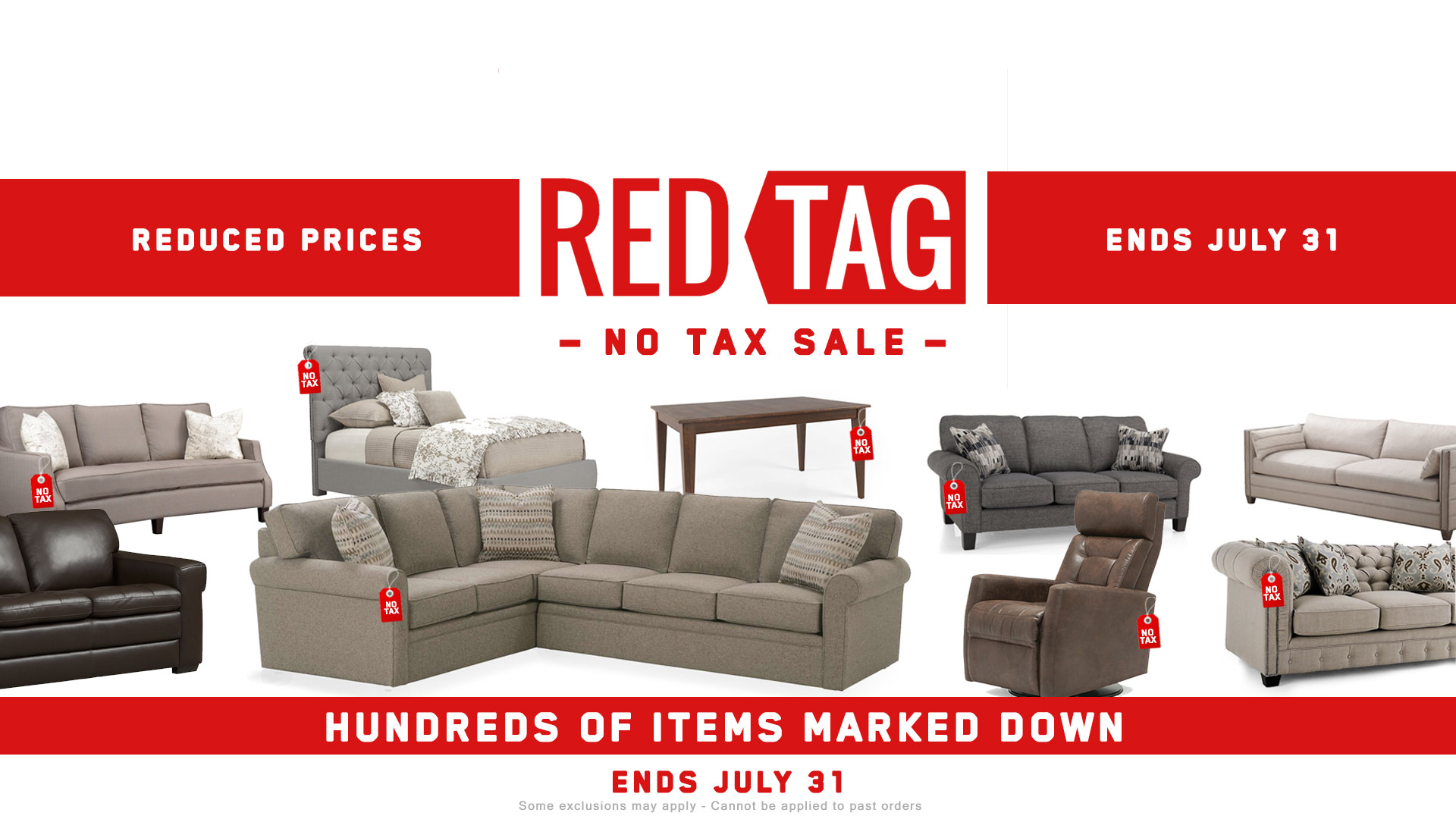 Red Tag Sale Furniture No Tax Coulters 2 Home