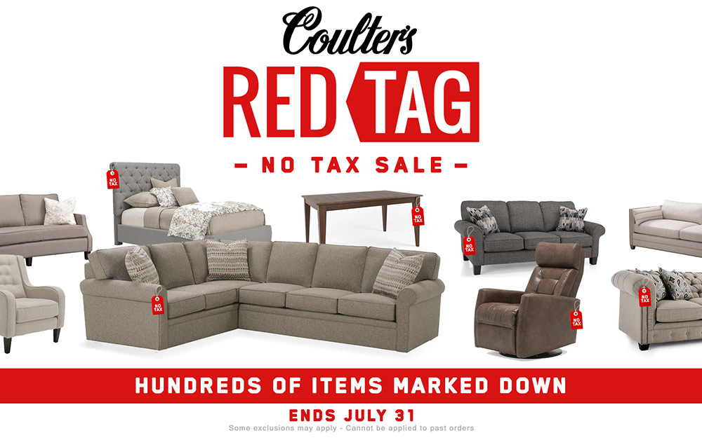 Red Tag Sale Furniture No Tax Coulters Windsor Sales