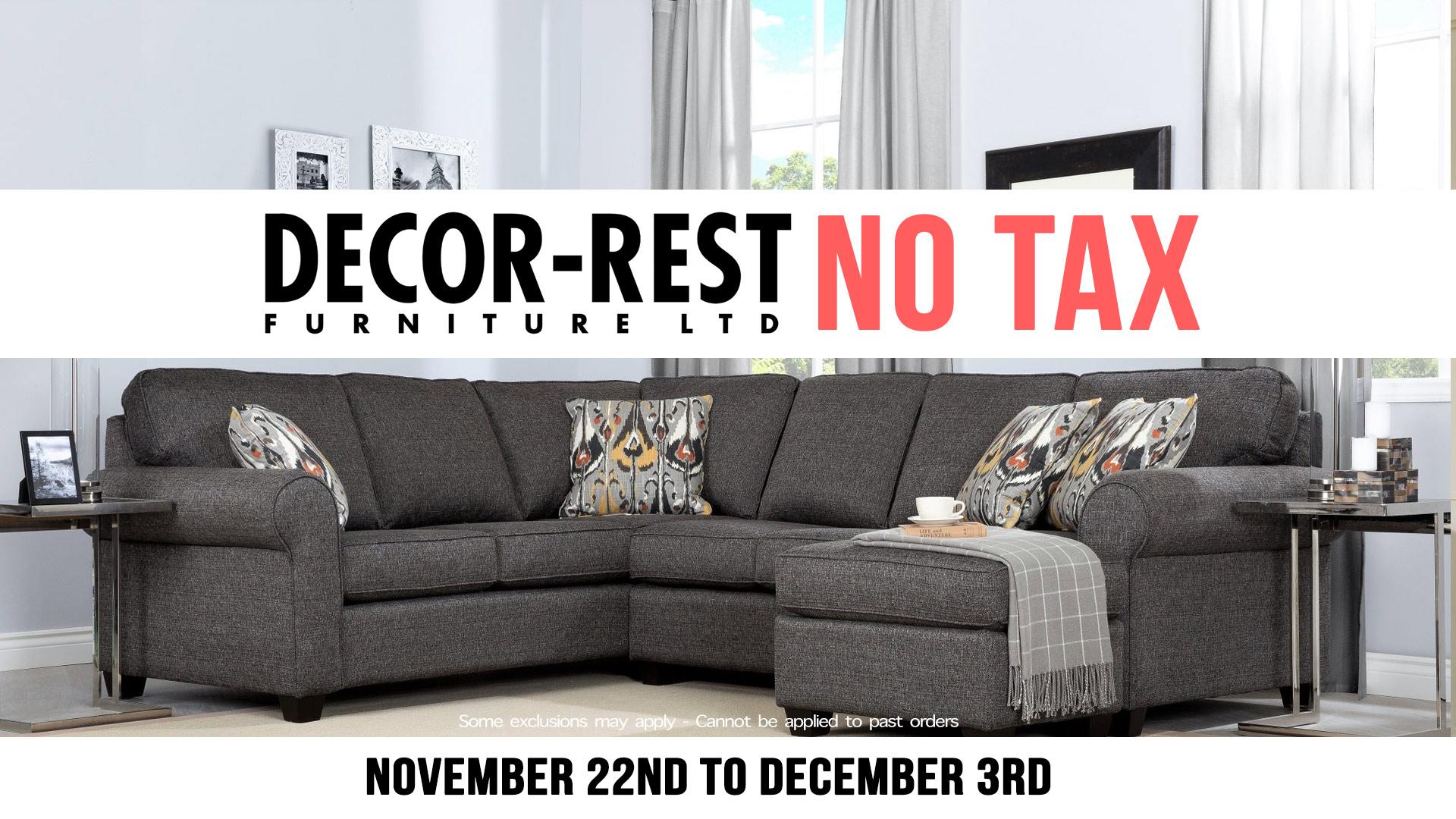 decor rest no tax november Home