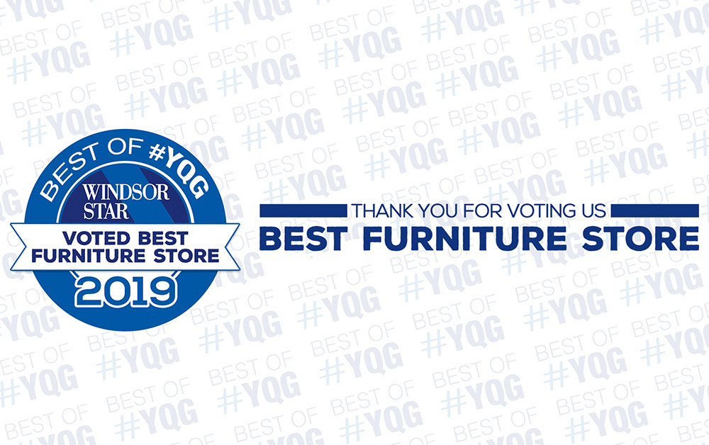 Best Furniture Store Windsor Coulters Furniture Windsor Star YQG Award 2019 Sales