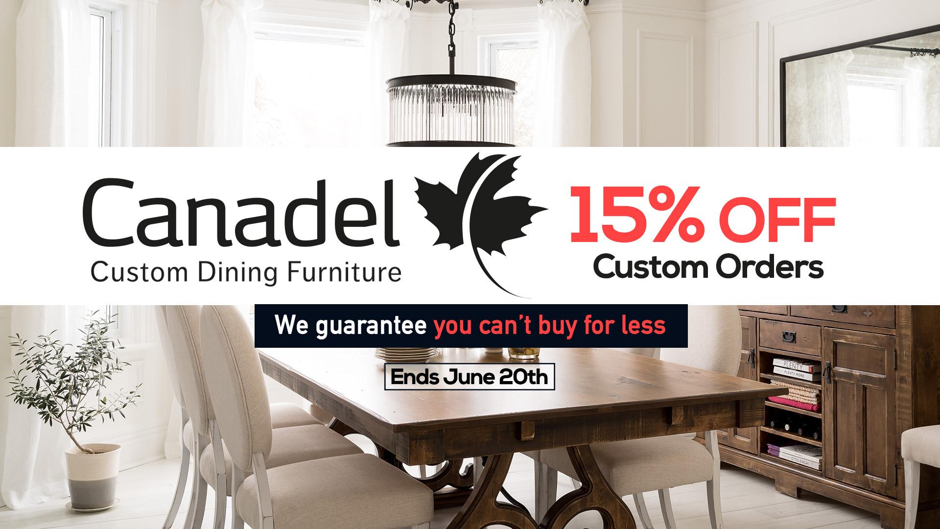Canadel Dining Furniture Sale Coulters June 2019 Slider Home