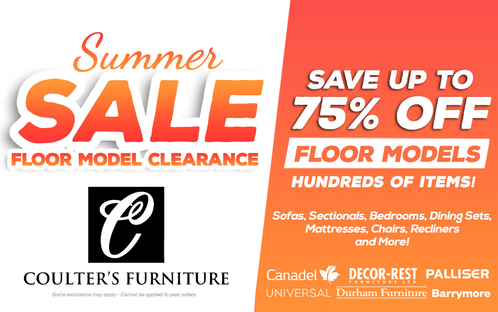 coulters floor model furniture clearance sale windsor ontario june 2019 Sales