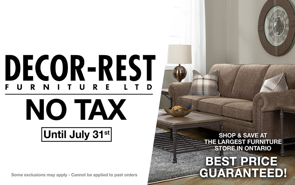 Decorrest furniture no tax sale windsor coulters july 2019 Sales
