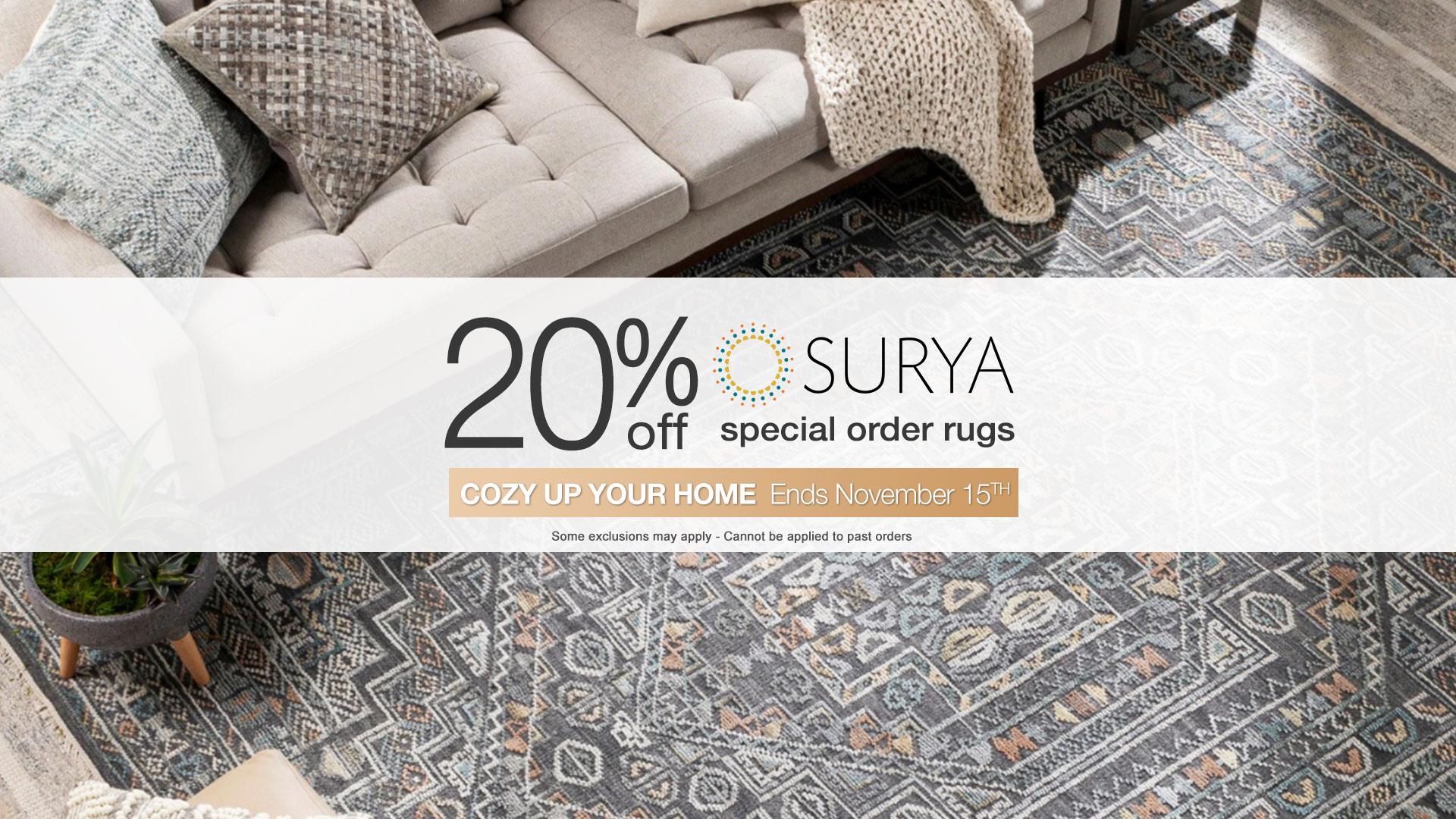 Surya rug sale coulters furniture october 2021 slider Home